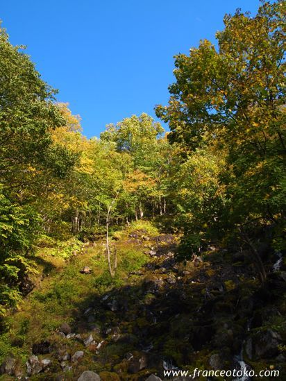 北海道足寄 阿寒国立公園 オンネトー湯の滝