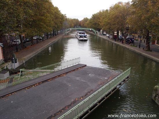 パリ、サンマルタン運河