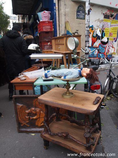 パリ、マレ地区のブロカント・蚤の市