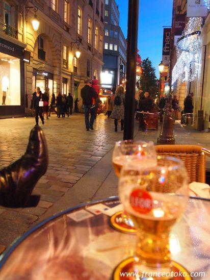 パリの冬カフェ