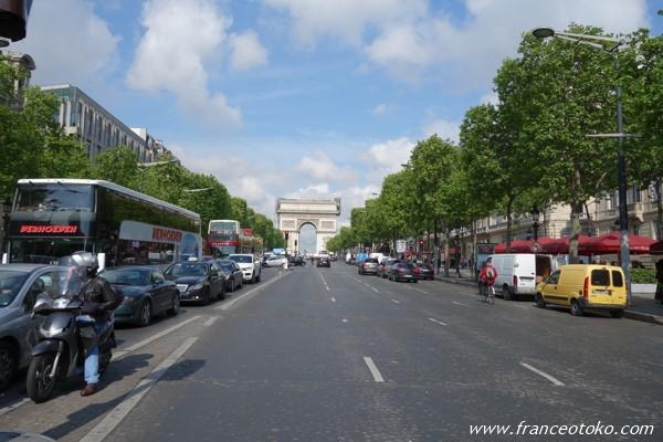 シャンゼリゼ大通り パリ 凱旋門