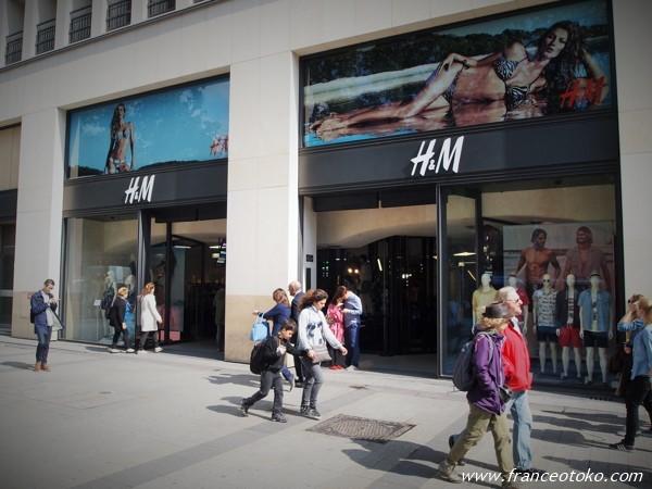 H&M パリ シャンゼリゼ大通り