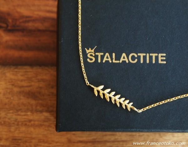 パリのアクセサリーブランド Stalactite LAURIER ネックレス
