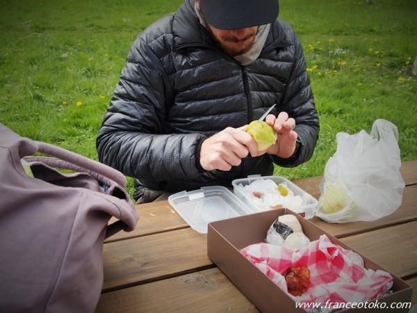 フランスのピクニック風景