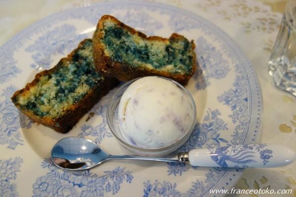 スミレのケーキ スミレ アイスクリーム