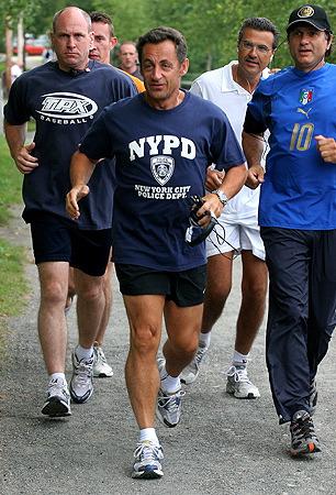 サルコジ大統領 ジョギング