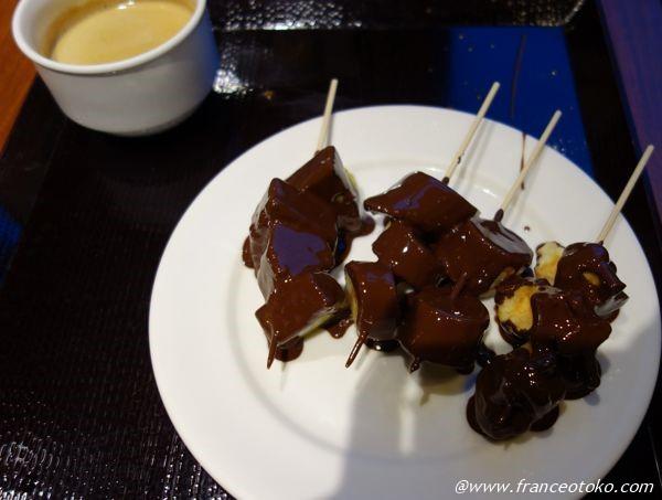 マショマロのチョコソース