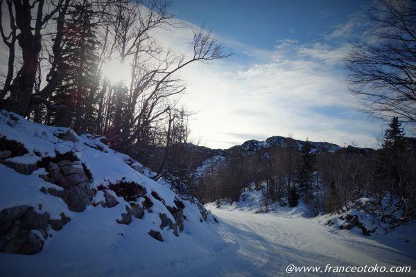 スロベニア 雪景色
