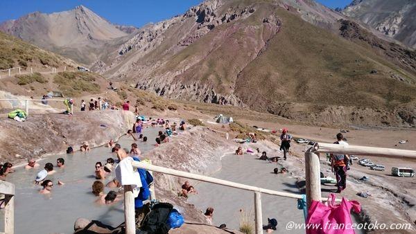 チリ 山の温泉