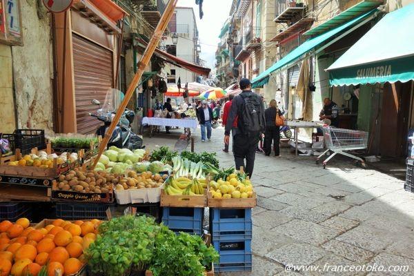 パレルモ 野菜市場