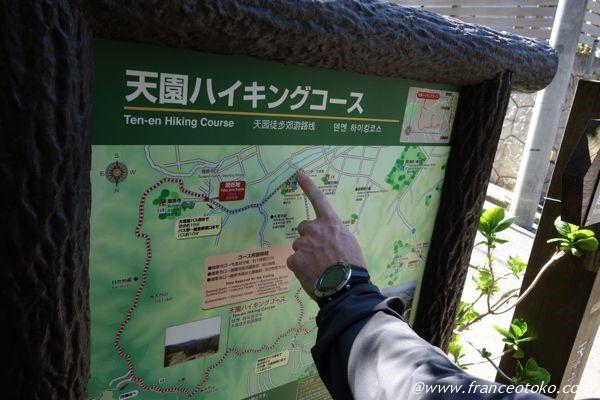 天園ハイキングコース 地図
