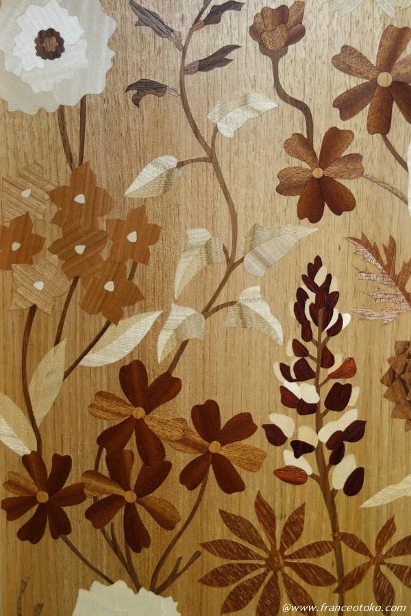 木彫り 花