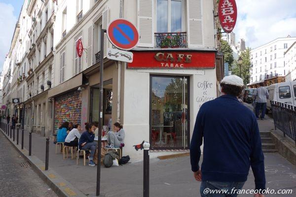 カフェ tabac パリ
