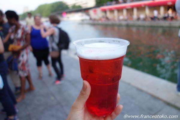 ビール 赤いシロップ