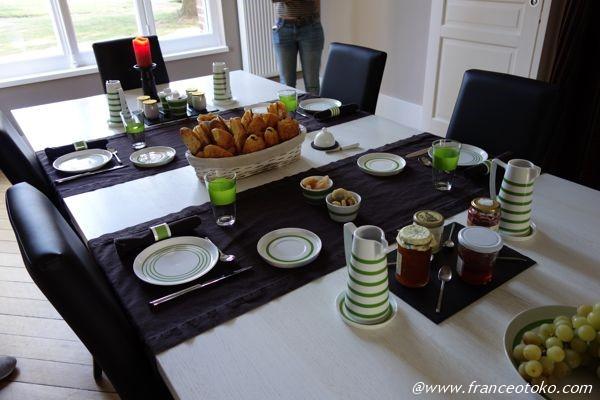 Le Château de la Folie シャトーホテルの朝食