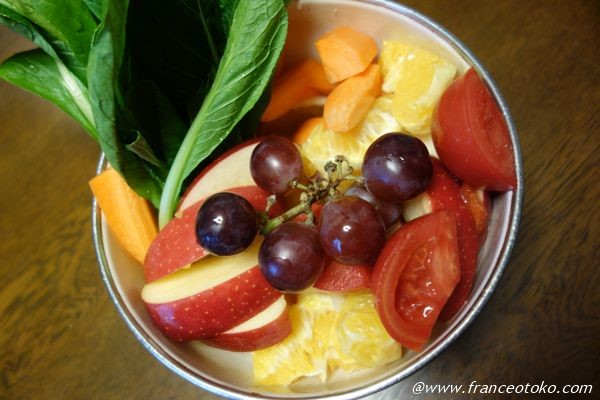 スムージー用の野菜とフルーツ