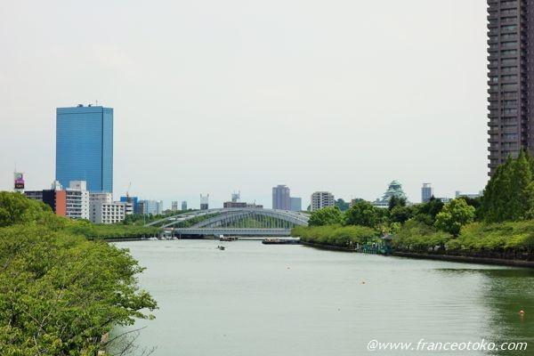 大阪城 川