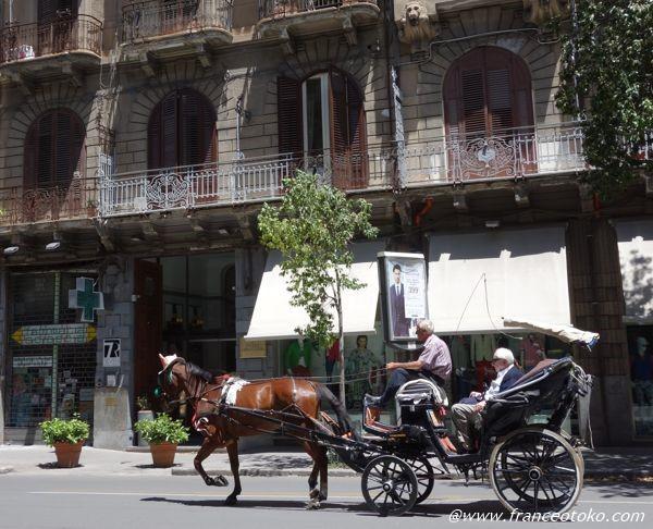 シチリア 馬車