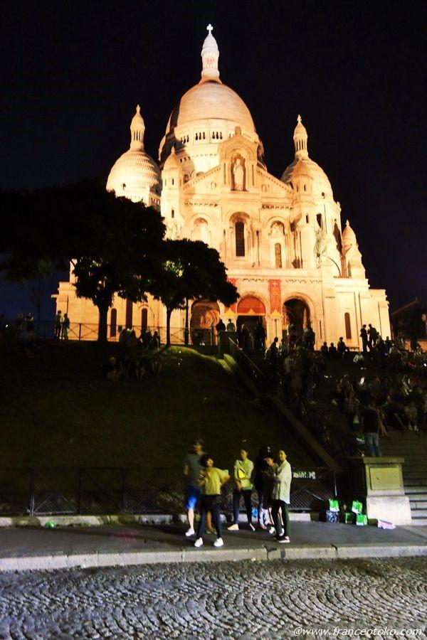 サクレクール 夜景 パリ