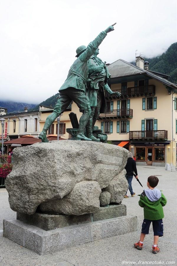シャモニー 銅像
