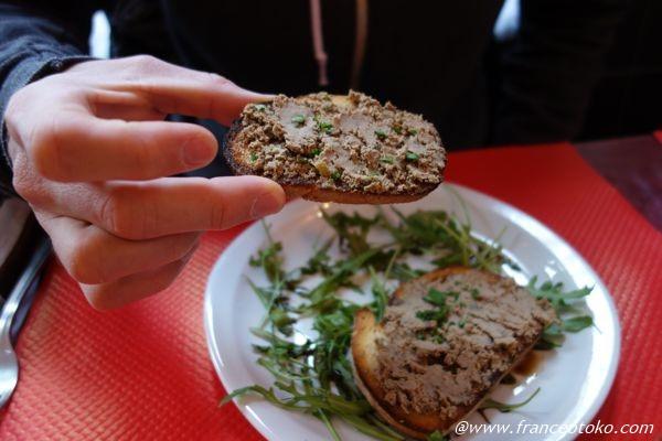 レバー トースト イタリアン前菜