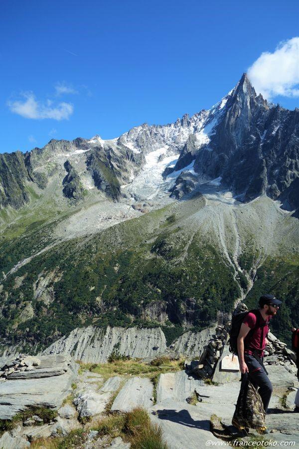 フランス 氷河 アルプス モンブラン