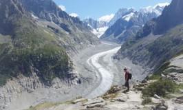 アラフォー脳内整理:氷河遠足風景エギーユ・デュ・ミディとメール・ド・グラース