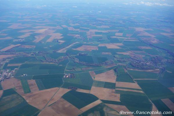 フランス 上空