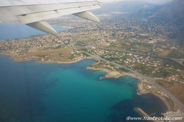 シチリア 上空