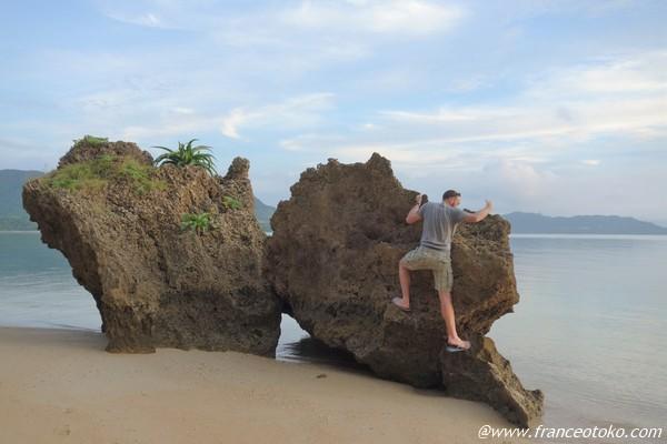 石垣島 岩のぼり