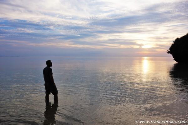 石垣島 きれいな夕日
