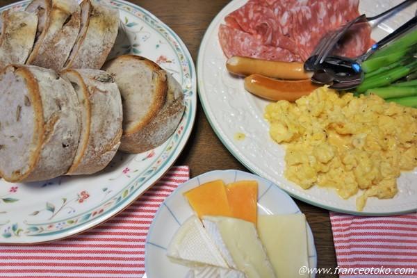 フランス人用 朝ご飯