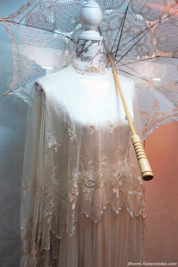 ヨーロッパ アンティークレース ドレス