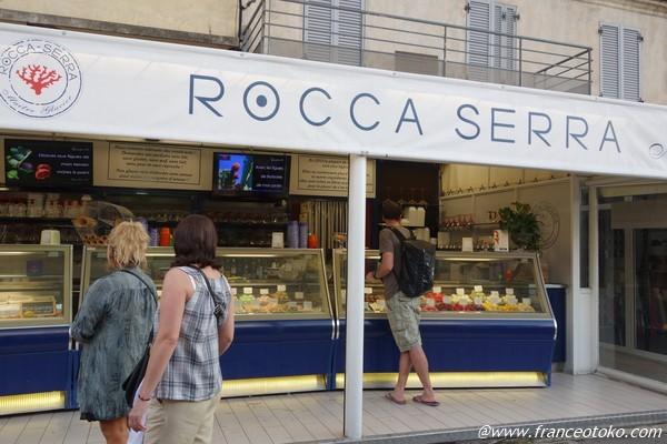 rocca sera アイスクリーム コルシカ