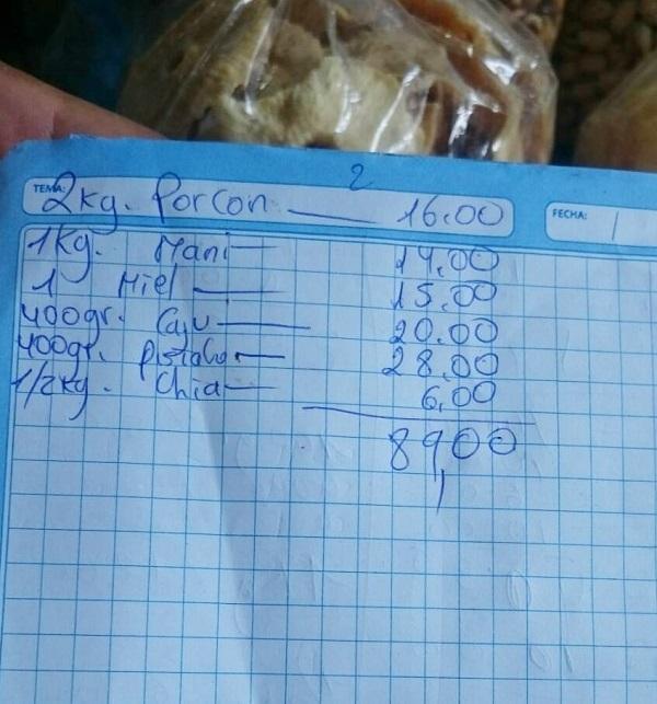 ペルー 市場の値段相場