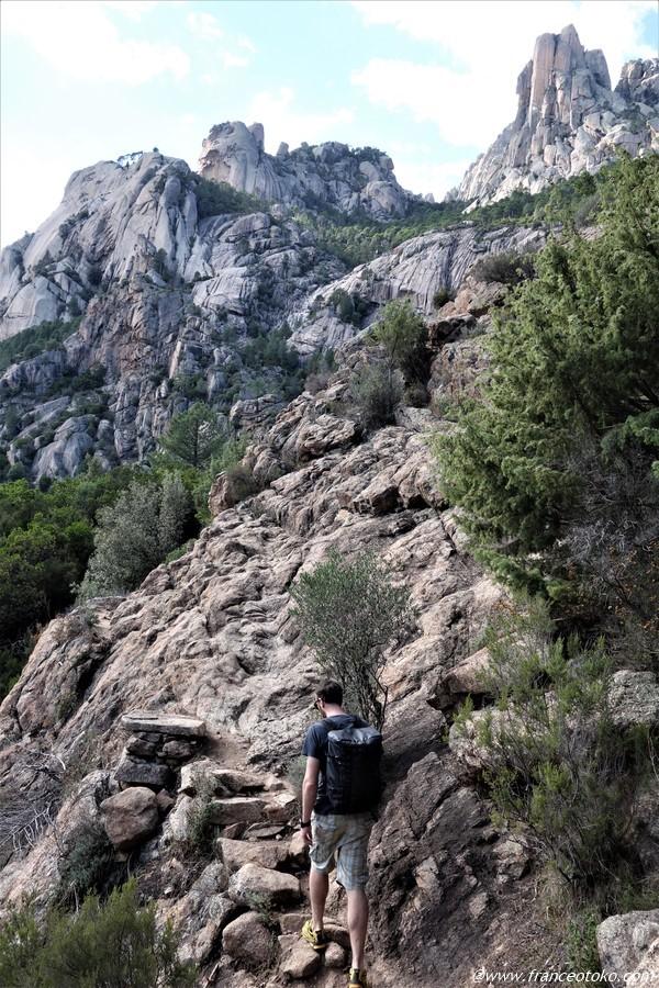 コルシカ 岩登り