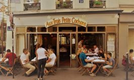 Aux Trois Petits Cochonsとジュテームの壁なパリ・ディナー